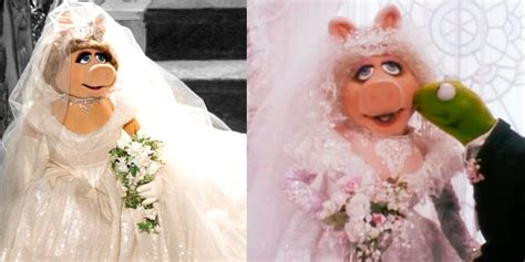 See Miss Piggy's Designer Wedding Gown From Muppets Most