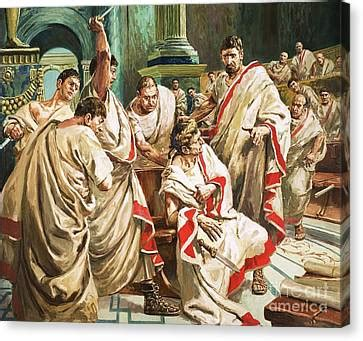 The Death Of Julius Caesar Painting by C L Doughty