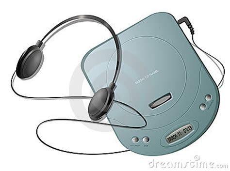 Portable CD Player With Headphones - Green Royalty Free