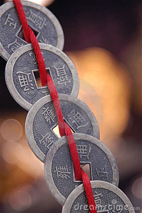 Chinese Coins On String Stock Photography - Image: 12572