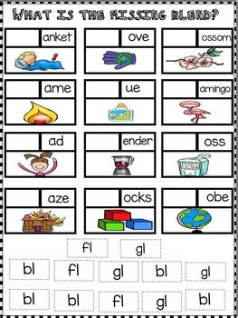 L Blends Bl, Fl, and Gl Word Work Activities - No Prep!   TpT