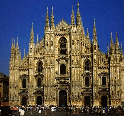 Gothic cathedrals became popular in the middle ages