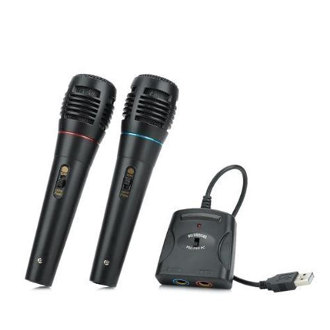 VAGAVO 5-in-1 Wired Karaoke Microphone Set for PS3 / PS2