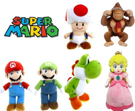 """OFFICIAL NEW 8"""" 12"""" SUPER MARIO BROS PLUSH SOFT TOY"""