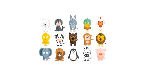 Happy Animals Illustrations - Free Vector and PNG | The