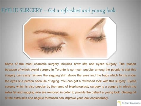 EYELID SURGERY – Get a refreshed and young look
