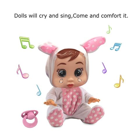 Music Magic Tears Cry Babies Doll Silicone Reborn Crying