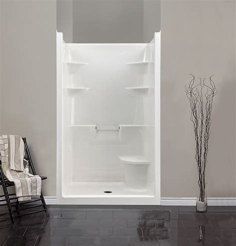 Mirolin Melrose 4 1-Piece Acrylic Shower Stall with Seat