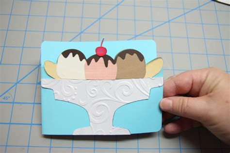 Free SVG - Banana Split Card with Gift Card Insert