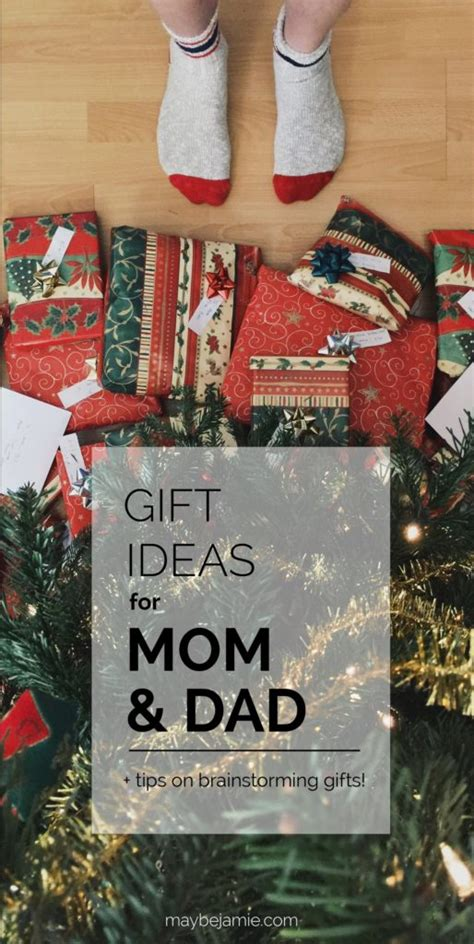 Gift Ideas For Mom And Dad + Tips On Gift Brainstorming