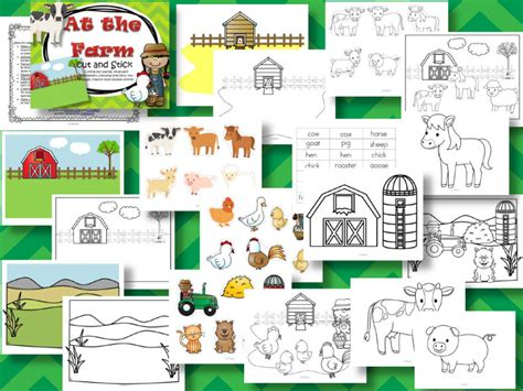 At the Farm Cut and Stick Paste Language Creative Activity