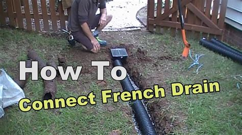How To Connect French Drain To Existing Pipe - YouTube
