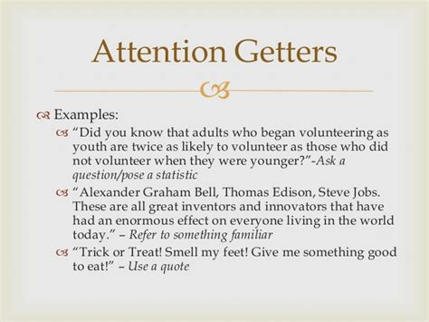 Attention Getter Quotes Reading