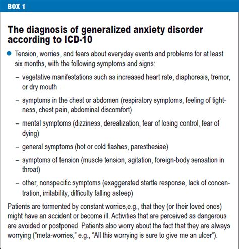 The Diagnosis and Treatment of Generalized Anxiety