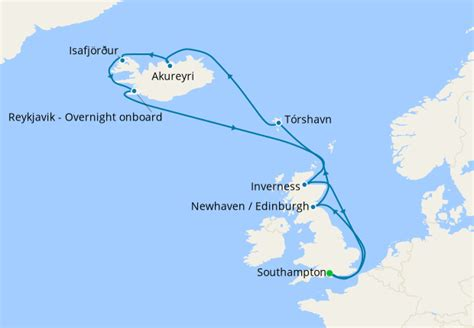 Iceland with Reykjavik Overnight from Southampton, Cunard