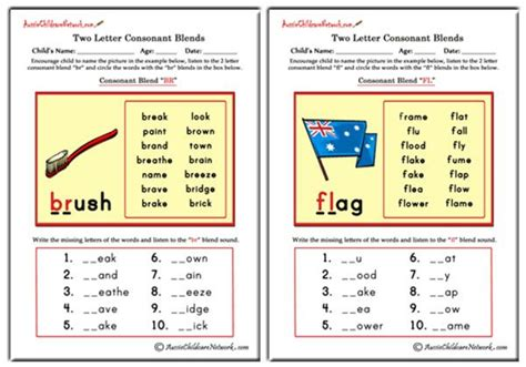 Two Letter Blends - Aussie Childcare Network