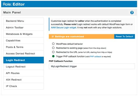 How to redirect WordPress user on  and logout