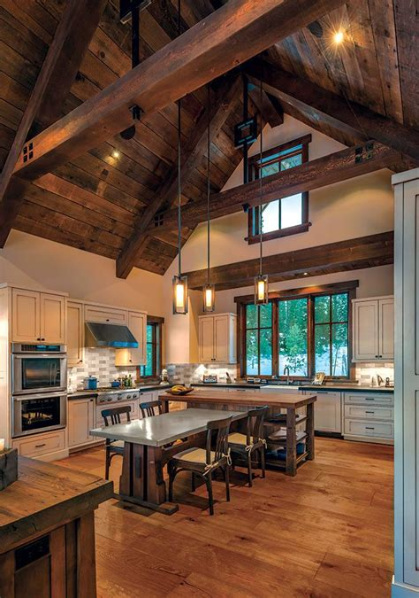 A Pond-Side Home in Truckee - Mountain Living   Barn house