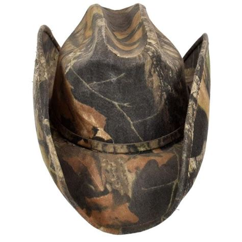 Ted Nugent's Mossy Oak Camo Cowboy Hat