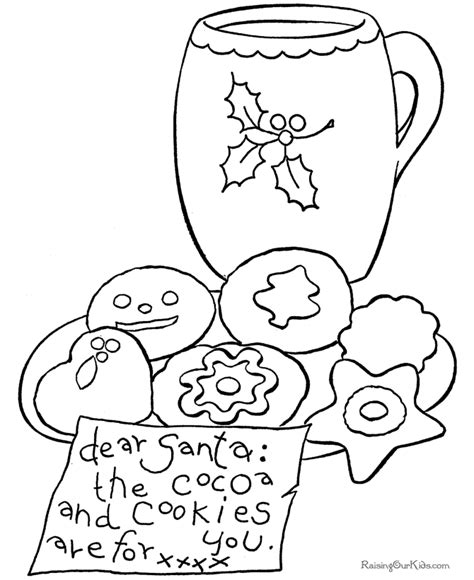 Christmas treats coloring pages download and print for free