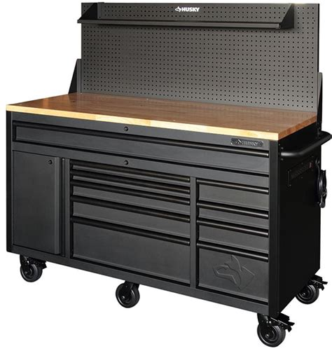 Review: Husky 60″ Mobile Workbench with Sliding Pegboard