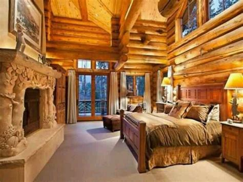 Pin by Erica Lee Lapid on My home   Log home bedroom, Log