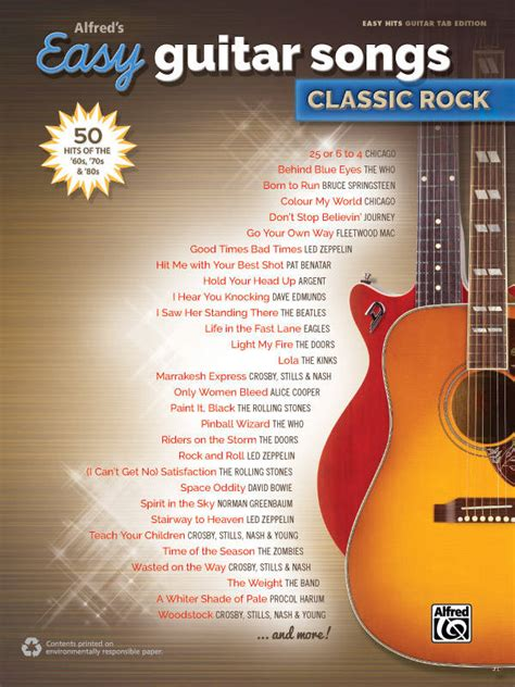 Alfred Publishing Alfred's Easy Guitar Songs: Classic Rock