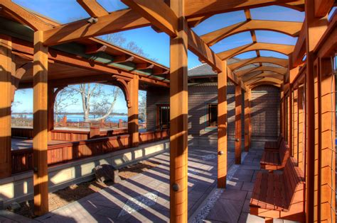 Decorative Beams for a Craftsman-Style Arbor