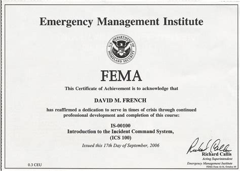 IS-00100 - Introduction to the Incident Command System