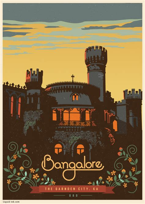 Graphic Design: Travel Postcards & Posters by Ranganath