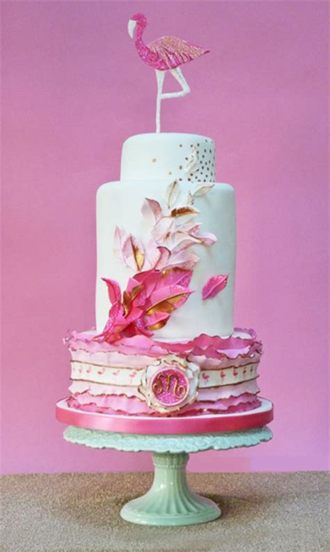 A 40Th Birthday Cake With A Flamingo Theme - CakeCentral