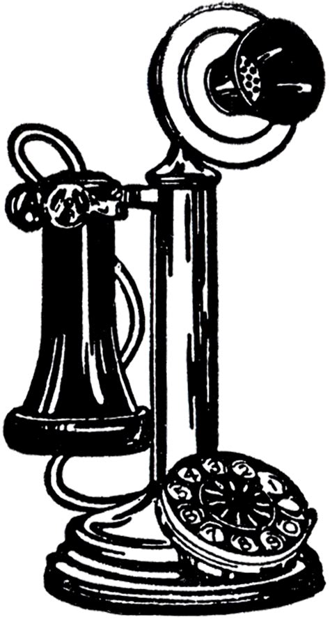 Old Fashioned Telephone Image! - The Graphics Fairy