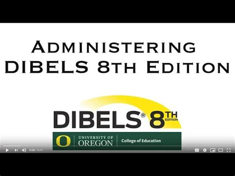 Administration of DIBELS 8th Edition - YouTube