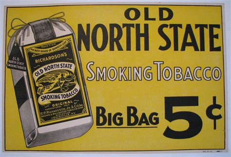 1910 Old North State Vintage Kentucky Tobacco Advertising