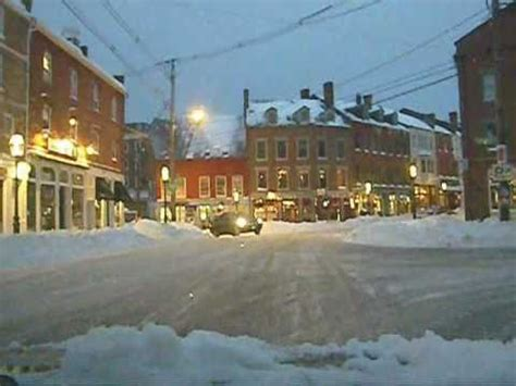 Driving around Portsmouth New Hampshire after a snow storm