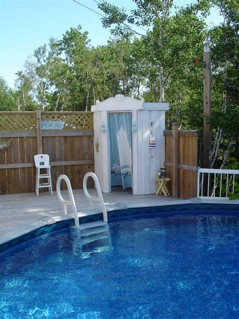 Pool shower/changing area   Pool Bathroom & Outdoor Shower