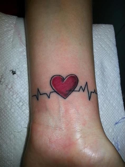 Heartbeat Wrist Tattoo Designs, Ideas and Meaning
